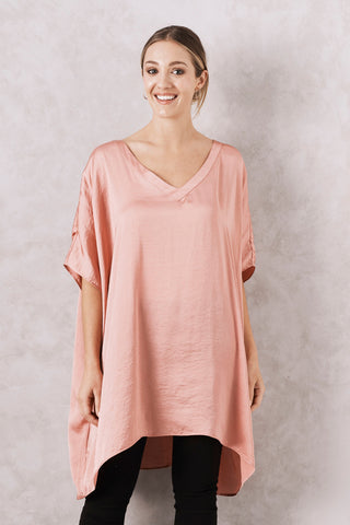 Nice Tunic in Rose with V Neck