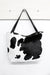 Nora Leather Handbag Black and White Cowhide