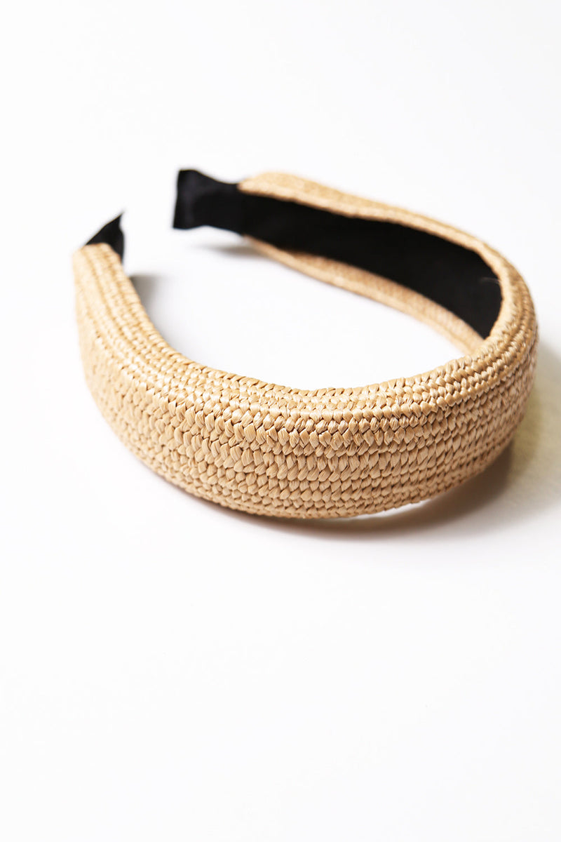 Rositta Natural Straw Headband