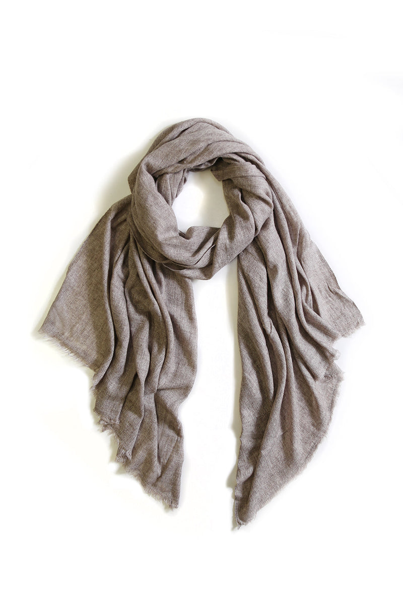 Cashmere and Wool Scarf Stone