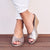 Ivanna Leather Espadrille Wedges Silver