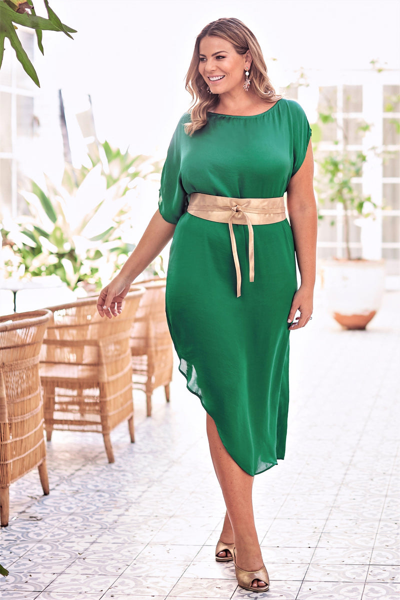 St Tropez Dress Emerald