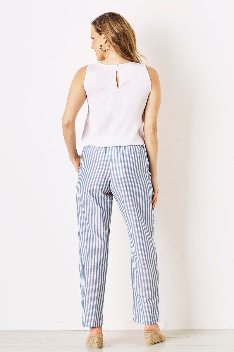 Striped Serina Pants in Blue
