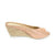 Ivanna Leather Espadrille Wedges Rose Gold