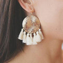 Lyla Fringed Earrings Cream