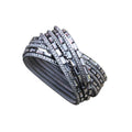 Lilly Wrap Bracelet Dark Grey
