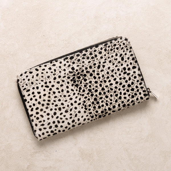 Zipper Wallet in Cheetah