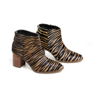 Leather Zebra Boots