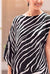 St Tropez Dress Zebra Black