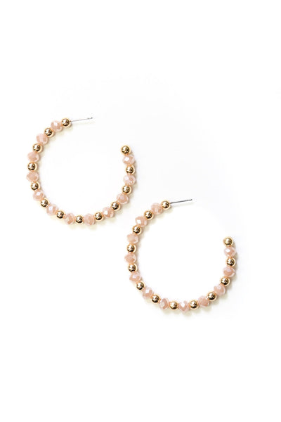 Helena Hoop Earrings Gold and Blush