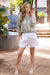 Amalfi Pure Linen Shorts White