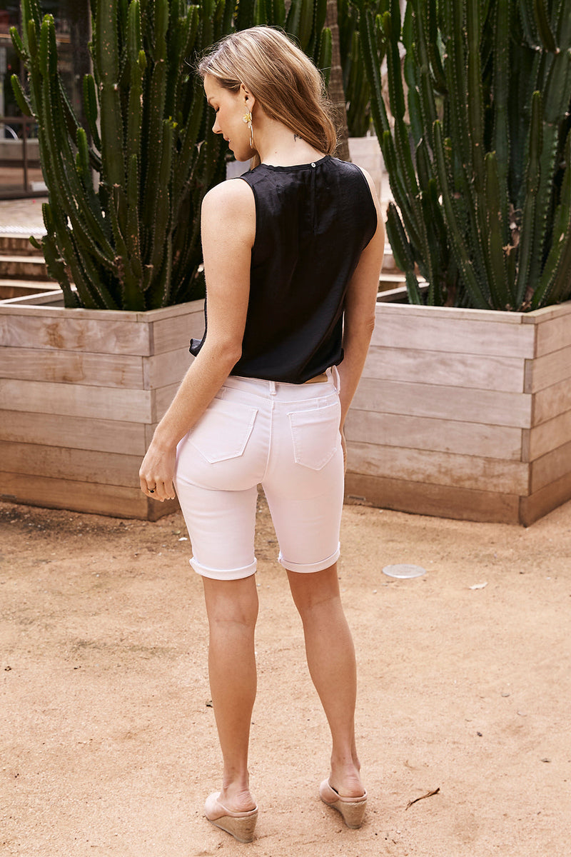 Amber White Denim Shorts Pre-Order