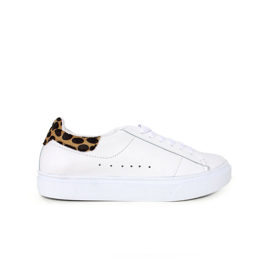 Cali Sneakers White and Animal Print