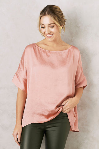 Bianca Top in Rose