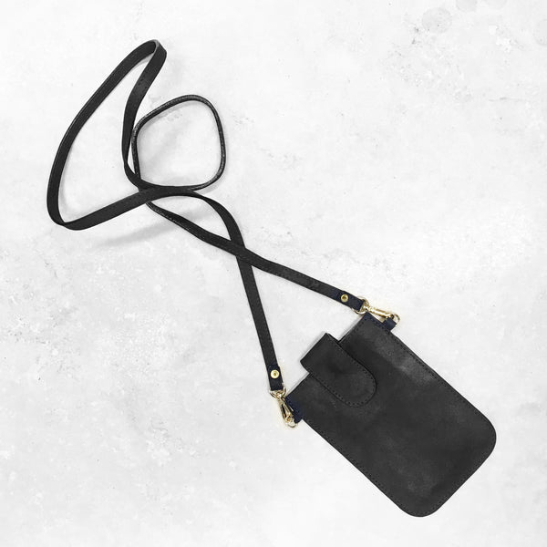 Mobile Phone Holder in Metallic Black