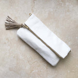 Carolina Clutch White Cowhide
