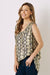 Chloe Python Sleeveless Top