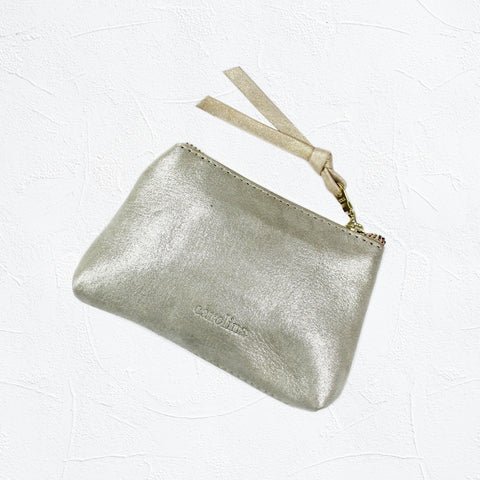 Coin Purse light gold metallic