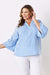 Comino Long Sleeve Top Striped Sky Blue