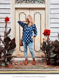 Navy Polka Dot Shirt