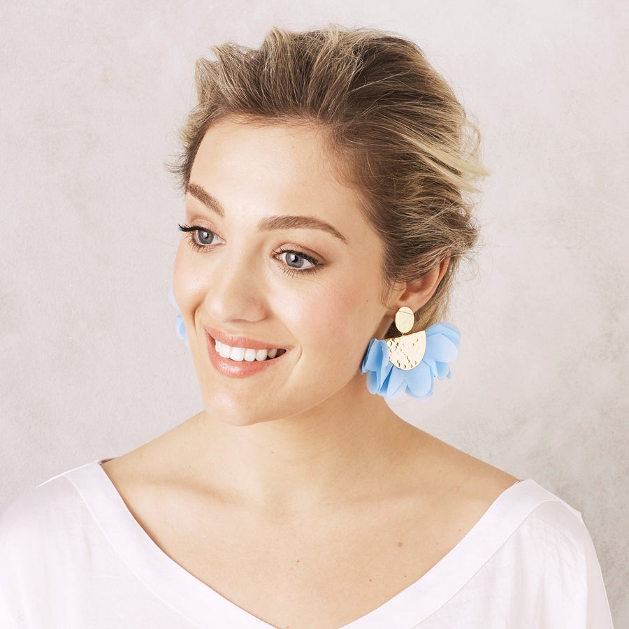 Flora Earrings Sky Blue