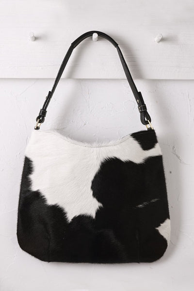 Hobo in Black and White Cowhide