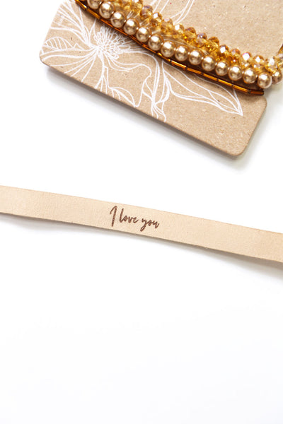 'I Love You' Leather Bracelet Set