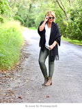 Amber Coated Jeans Olive