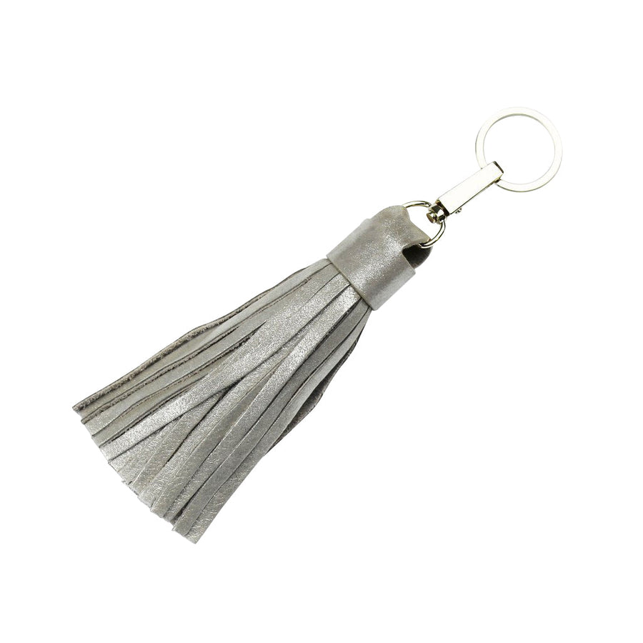 Tassel Keyring Light Gold Metallic