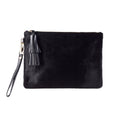 Masai Mara Clutch All Black Cowhide