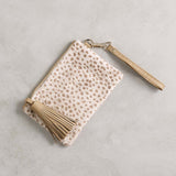 Mini Masai Mara Clutch in Almond Cheetah