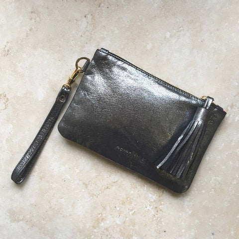 Mini Masai Mara Clutch in Dark Grey