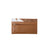 Foldover Wallet Tan and White Cowhide