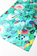 Poppy Silk Scarf Green Jewel