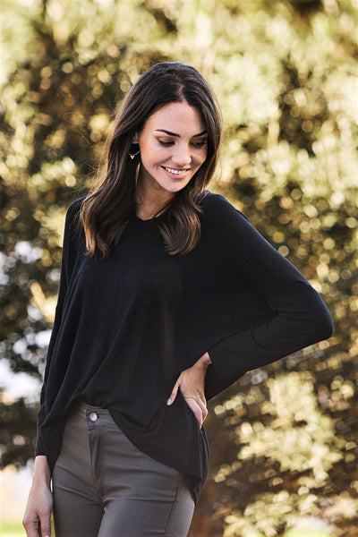 Essential Long Sleeve Top Black