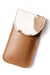 Sunglasses Case Tan and White Cowhide