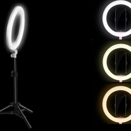 Pro LED Ring Light (46cm) with Warm/Cool/Brightness adjustable