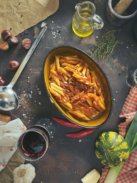 Penne all´arrabbiata VEGETARISCH