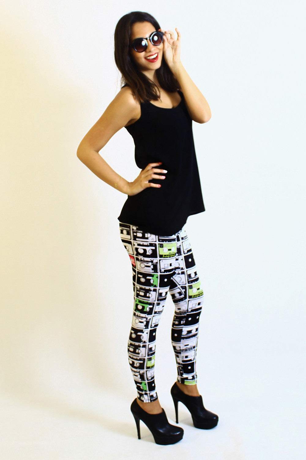 Audio Tapes legging