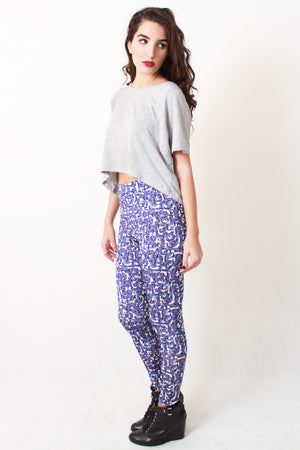 Arabic Abjad blue legging