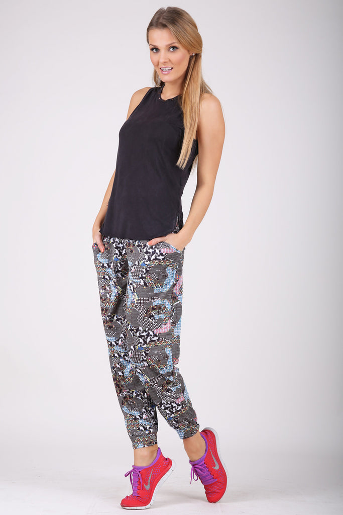 Tribal Heptagon harem pants