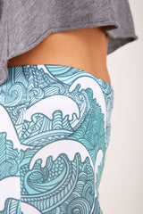 Blue Waves legging