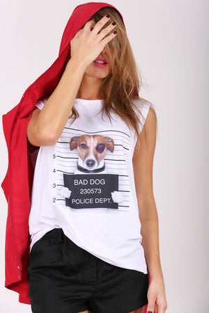 Dog Gone Woof! sleeveless shirt