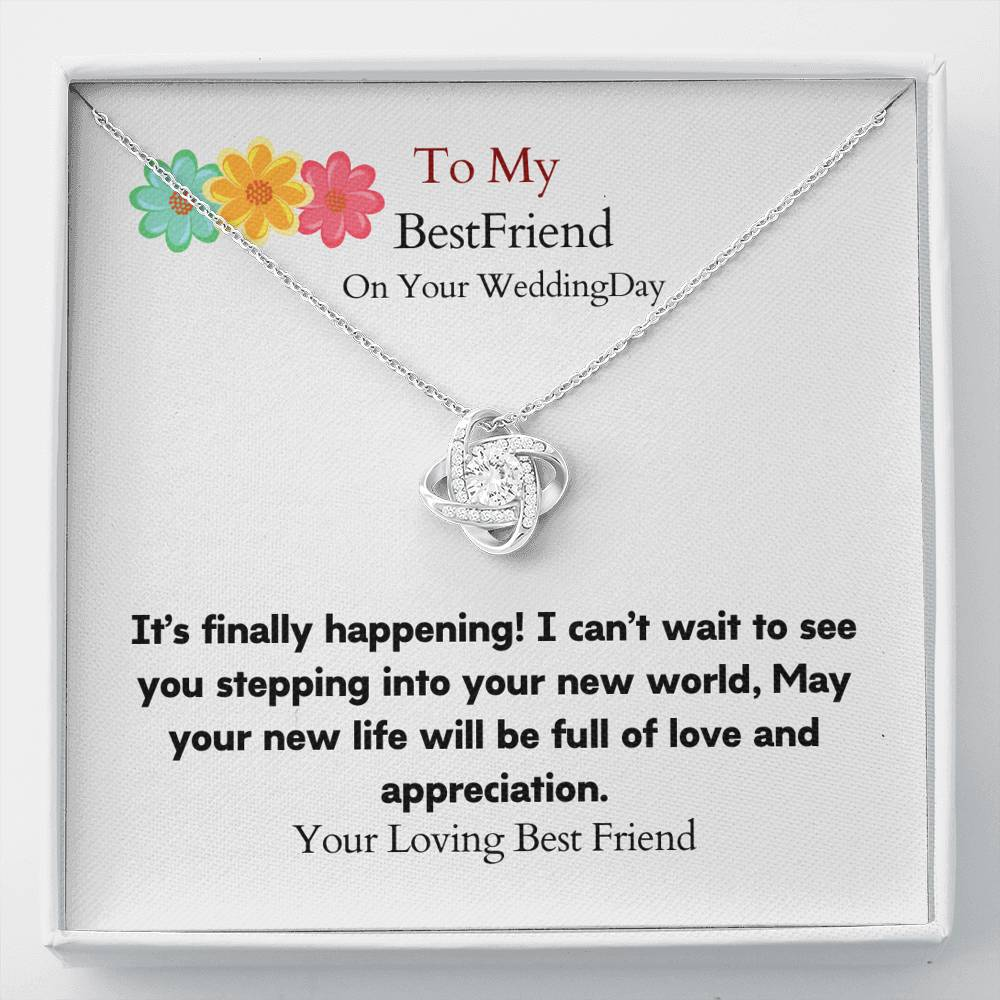 To my cute  wife Love Knot Necklace