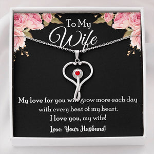 To My Wife My Love For You Will Grow More Stethoscope Necklace