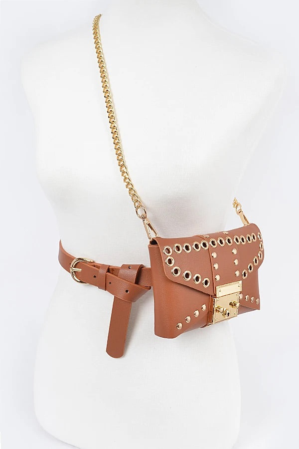 Camel Convertible Fanny Clutch