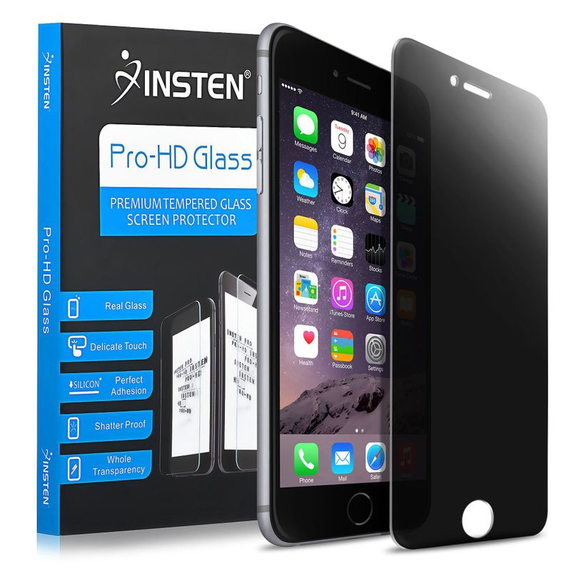 INSTEN Privacy Anti-Spy Tempered Glass Screen Protector Compatible With Apple iPhone 7 Plus