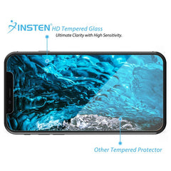 Insten Ultra Clear Tempered Glass Full Coverage Edge to Edge Cover Protector for Apple iPhone 11 Pro XS X (9H Hardness Scratch-Resistant)