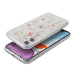 Real Pressed Dried Flower Epoxy TPU Soft Case Compatible With iPhone 11, Pink Small Floral Design