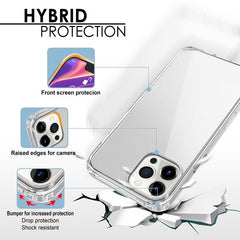 "Hybrid Matte TPU Bumper Case Compatible With iPhone 12 Pro Max (6.7""), Clear"